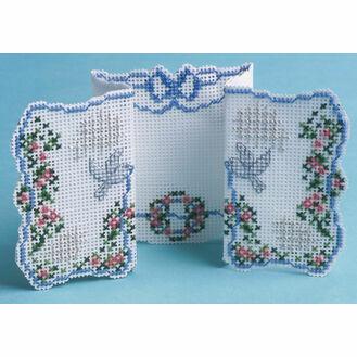 Doves & Ribbons 3D Cross Stitch Card Kit