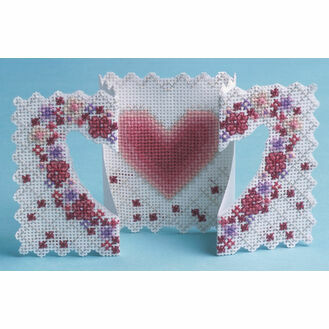 Heart & Flowers 3D Cross Stitch Card Kit