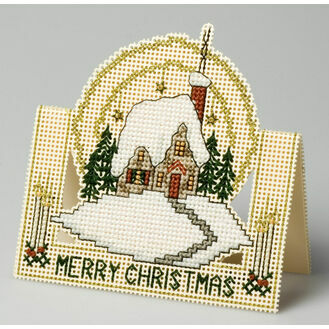 Winter Afternoon 3D Cross Stitch Card Kit
