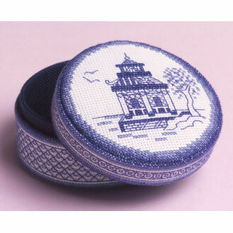 Blue Willow Temple Box 3D Cross Stitch Kit