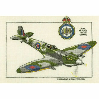 Supermarine Spitfire Cross Stitch Kit