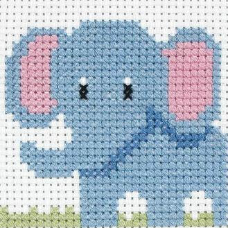 Children's Elephant Cross Stitch Kit