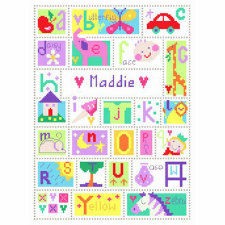 Alphabet Cross Stitch Kit