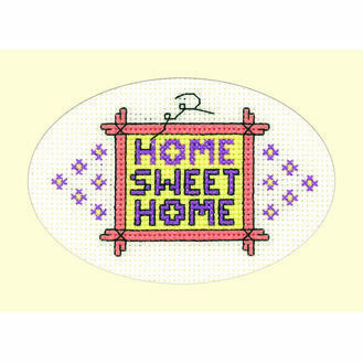 Home Sweet Home Cross Stitch Card Kit