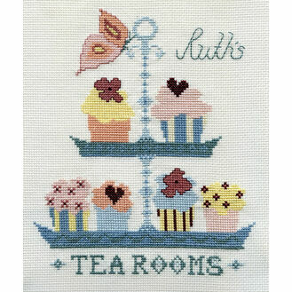Butterfly Tea Room Cross Stitch Kit