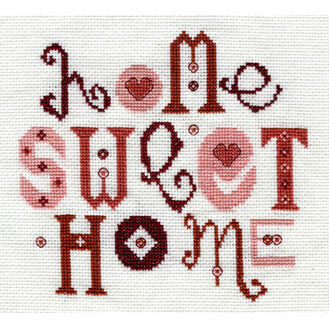 Home Sweet Home Red Cross Stitch Kit