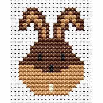 Easy Peasy Bunny Head Cross Stitch Kit