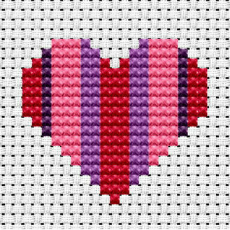 Easy Peasy Heart Cross Stitch Kit
