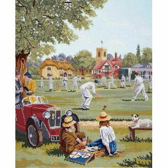 Cricket Match Cross Stitch Kit