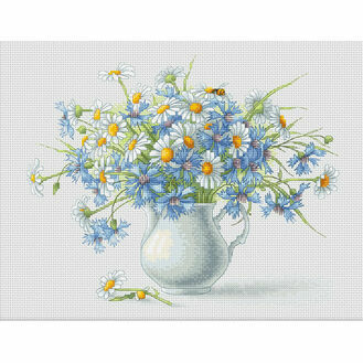 Cornflowers & Camomiles Cross Stitch Kit