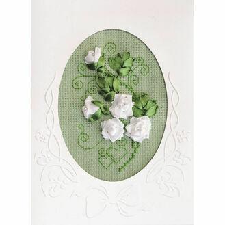 Cross Stitch & Ribbons Wedding Card Kit