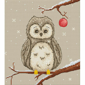 Owl Christmas Cross Stitch Kit