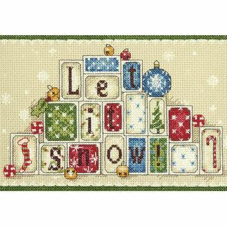 Let It Snow Cross Stitch Kit