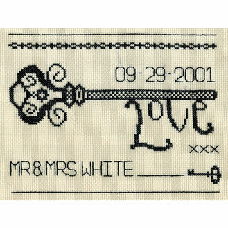 Vintage Love Key Cross Stitch Kit