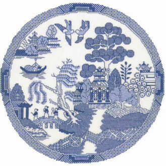 The Willow Pattern Cross Stitch Kit