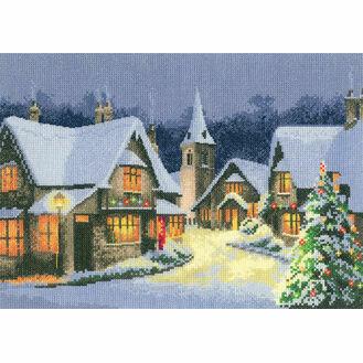 Christmas Village Cross Stitch Kit