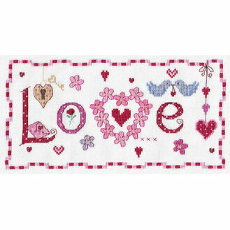 Love Word Cross Stitch Kit