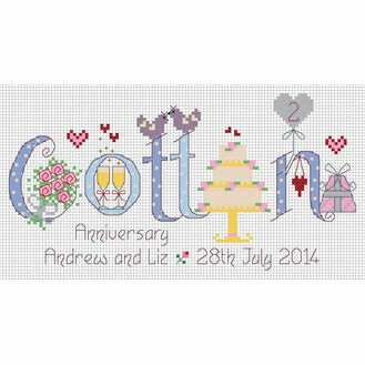 Cotton Anniversary Cross Stitch Kit