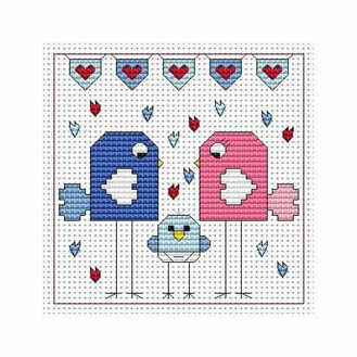Flitters Baby Boy Cross Stitch Card Kit