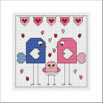 Flitters Baby Girl Cross Stitch Card Kit