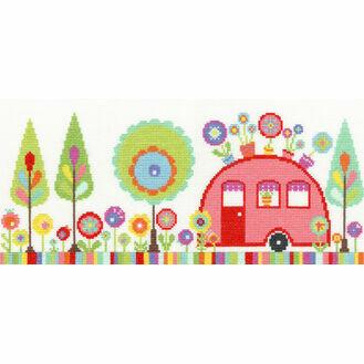 Funky Caravan Cross Stitch Kit