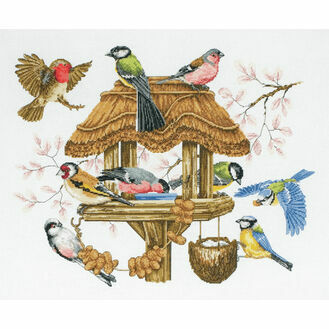 Bird Table Cross Stitch Kit from Anchor