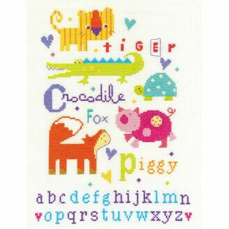 DMC Animal Alphabet Cross Stitch Kit