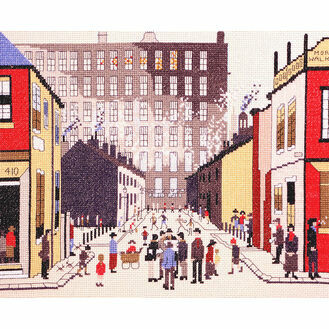 Lowry - Street Scene Cross Stitch Kit