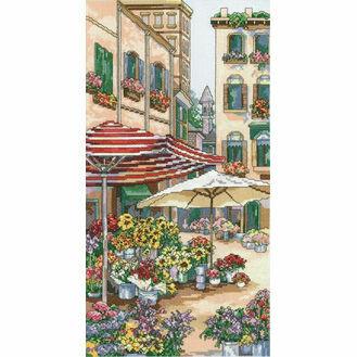 Flower Market Cross Stitch Kit