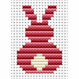 Easy Peasy Bunny Rabbit Cross Stitch Kit