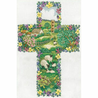 Pastoral Cross Cross Stitch Kit