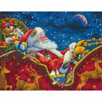 Santa\'s Midnight Ride Cross Stitch Kit