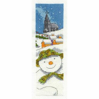 The Snowman Cross Stitch Bookmark Kit
