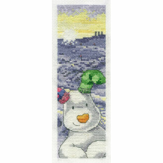 The Snowdog Cross Stitch Bookmark Kit