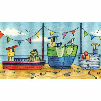 Boats Cross Stitch Kit