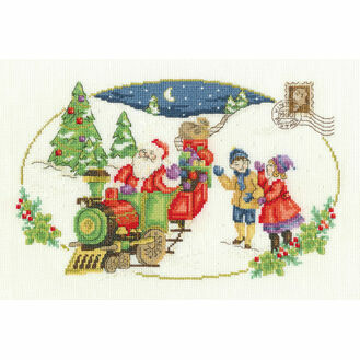 Santa Is Coming Cross Stitch Kit