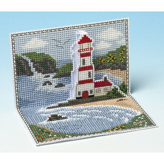 Lighthouse Bay 3D Cross Stitch Card Kit
