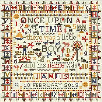 Once Upon A Time Little Boy Cross Stitch Kit