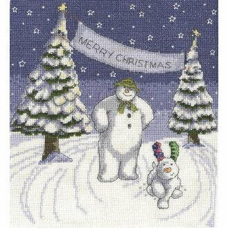 The Snowman & The Snowdog Merry Christmas Cross Stitch Kit