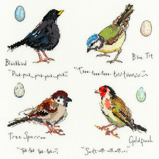 Garden Birds 2 Cross Stitch Kit