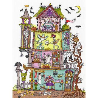 Cut Thru\' Haunted House Cross Stitch Kit