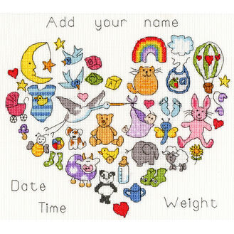 Baby Heart Cross Stitch Kit