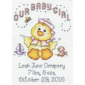 Baby Chick Girl Cross Stitch Kit