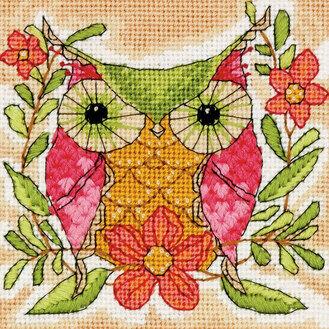 Whimsical Owl Tapestry Kit