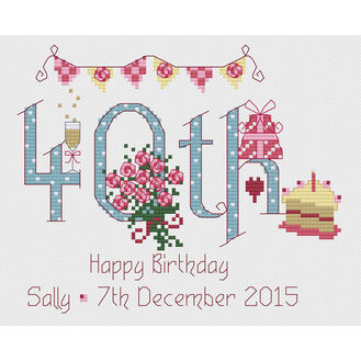 40th Birthday Cross Stitch Kit