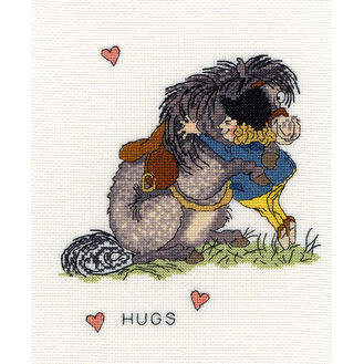 Thelwell Hugs Cross Stitch Kit