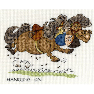 Thelwell Hanging On Cross Stitch Kit