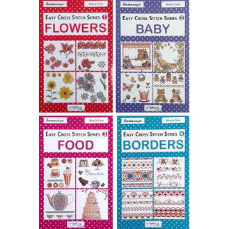 Easy Cross Stitch Series - Baby, Food, Borders & Flowers