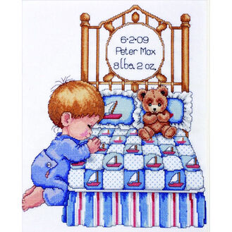 Baby Boy Prayer Cross Stitch Kit