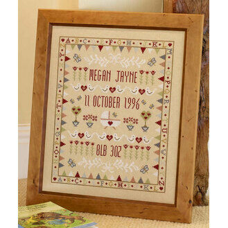 Bunting Cradle Sampler Cross Stitch Kit